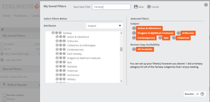 Edelweiss Filter Setup