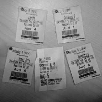 Adrift, Deadpool 2, Hotel Artemis, Ocean's 8, Hereditary