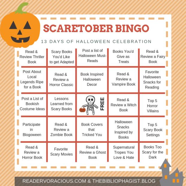 SCAREtober Bingo Card