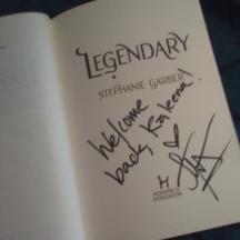 Signed copy of Legendary: