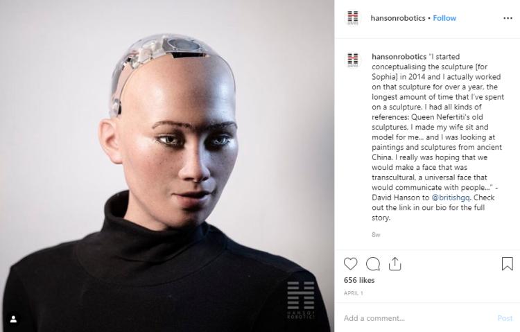 Sophia the Robot on IG